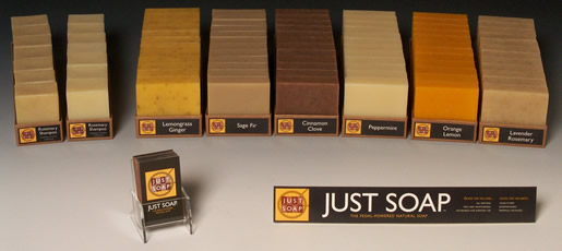 Just Soap Product Display